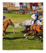 Race 6 - Del Mar Horse Race Fleece Blanket