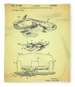 Race Car Track With Race Car Retaining Means Patent 1968 Fleece Blanket