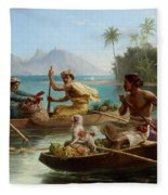 Race To The Market Tahiti Fleece Blanket