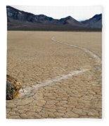 Racetrack Sailing Rocks Death Valley National Park Fleece Blanket