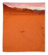 Racetrack Valley Death Valley National Park Fleece Blanket