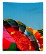 Racing Balloons Fleece Blanket
