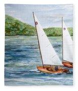 Racing On The Lake Fleece Blanket