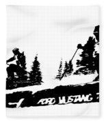 Racing Over The Ski Jump Fleece Blanket