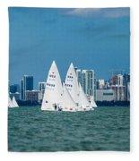 Racing Past Miami Fleece Blanket