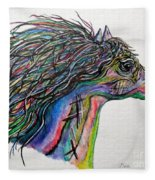 Racing The Wind ... A Story Painting Fleece Blanket