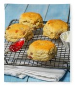 Rack Of Scones Fleece Blanket