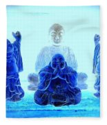 Radiant Buddhas Fleece Blanket