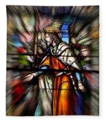 Radiant Jesus Fleece Blanket