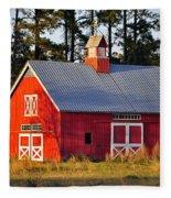 Radiant Red Barn Fleece Blanket