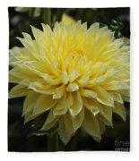Radiant Yellow Dahlia Fleece Blanket
