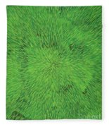Radiation Green Fleece Blanket