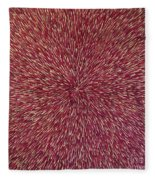 Radiation With Brown Magenta And Violet  Fleece Blanket