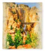 Radiator Springs Waterfall Fleece Blanket
