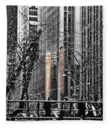 Radio City At Christmas - Black And White Fleece Blanket