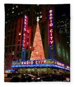 Radio City At Christmas Time - Holiday And Christmas Card Fleece Blanket