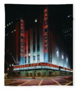 Radio City Music Hall In New York City Fleece Blanket