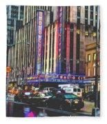 Radio City Music Hall New York City- 1 Fleece Blanket