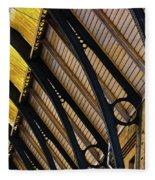 Rafters At London Kings Cross Fleece Blanket