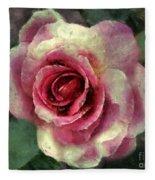 Ragged Satin Rose Fleece Blanket