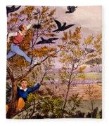 Raiding The Rook's Nest Fleece Blanket