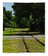Rail Crossing Fleece Blanket