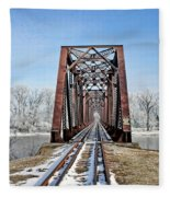 Railroad Bridge Fleece Blanket