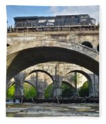 Railroad Bridges Fleece Blanket