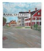 Railroad Crossing Fleece Blanket