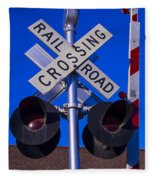 Railroad Crossing Fleece Blanket