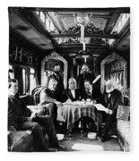 Railroad Directors, C1868 Fleece Blanket