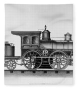 Railroad Engine, C1874 Fleece Blanket