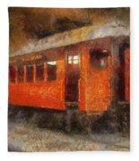 Railroad Gary Flyer Photo Art 02 Fleece Blanket