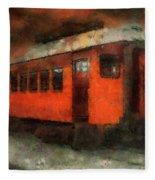 Railroad Gary Flyer Photo Art 03 Fleece Blanket