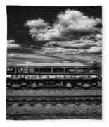Railroad Gravel Car Fleece Blanket