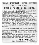Railroad Land Sale, 1872 Fleece Blanket