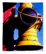 Railroad Oil Lantern Fleece Blanket