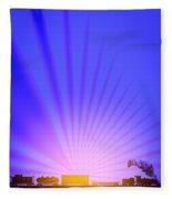 Railroad Sunrise Fleece Blanket
