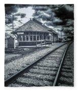 Railroad Ties Marlette Michigan Fleece Blanket