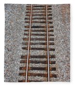 Railroad Track With Gravel Bed Fleece Blanket