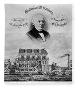 Railroad Train, 1832 Fleece Blanket