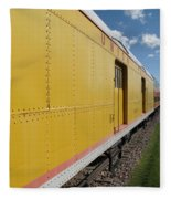 Railroad Train Fleece Blanket