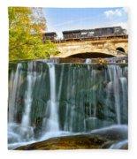 Railroad Waterfall Fleece Blanket