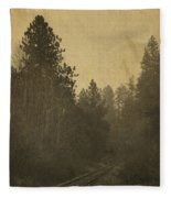 Rails In The Rogue Valley - Vintage Effect Fleece Blanket