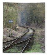 Railway Line Fleece Blanket