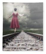 Railway Tracks Fleece Blanket