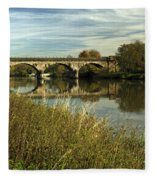 Railway Viaduct At Waterside - Stapenhill Fleece Blanket