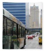 Rain And Bus Fleece Blanket