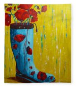 Rain Boot Series Unusual Flower Pots Fleece Blanket