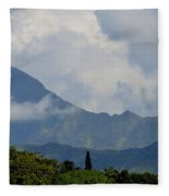 Rain Clouds Over The Makalehas Fleece Blanket